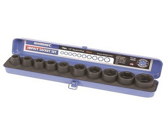 IMPACT SOCKET SET 1/2D 10P-MET
